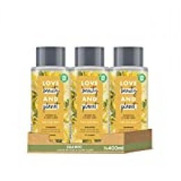 Love Beauty and Planet Champú para Cabello dañado, Aceite de Coco e Ylang Ylang Vegano- Pack de 3 x 400 ml (Total: 1200 ml)
