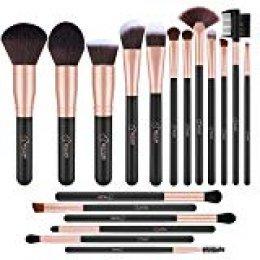 BESTOPE - Juego de brochas de maquillaje profesional (18 piezas)