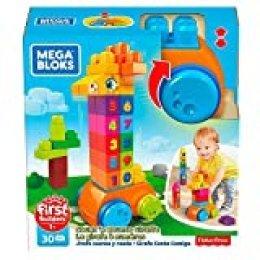 Mega Blocks - Cuenta Conmigo 1,2,3 Bloques de Construcción Bebé 1 año  (Mattel GFG19)