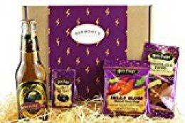 La Última Harry Potter Caja De Selección - Cerveza De Mantequilla Sin Alcohol, Ranas De Chocolate, Jelly Belly Bertie Bott's Grajeas Y Babosas De Gelatina - Cesta Exclusiva Para Burmont's