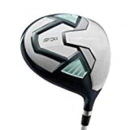 Wilson Golf Pro Staff SGI Driver MW 1, Palo de Golf para Mujer, Mano Dominante Izquierda, Nivel Principiante y Avanzado, Grafito, Gris/Celeste, WGD1515001