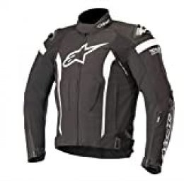 Alpinestars Chaqueta moto T-missile Drystar Jacket - Tech-air Compatible Black White, Negro/Blanco, L