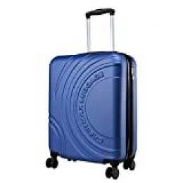 Cabin Max Velocity - Maleta para Equipaje de Cabina Ligera | Trolley de ABS con Ruedas de 55 x 40 x 20 cm Extensible a 55 x 40 x 25 cm Aprobado para Vuelo en Ryanair, EasyJet, BA (Azul Medianoche)