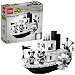 LEGO Ideas - El Botero Willie, Juego de Construcción del Barco Clásico de Vapor Inspirado en el Corto de Animación de Disney, con Minifiguras de Mickey y Minnie Mouse (21317)