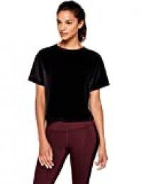 Marca Amazon - AURIQUE Camiseta de Terciopelo Corte Amplio Mujer
