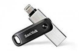 SanDisk SDIX60N-128G-GN6NE, Memoria Flash USB para tu iPhone y iPad, Android, 128GB, Negro