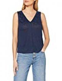 Mexx Camiseta sin Mangas, Azul (Black Iris 193921), Medium para Mujer