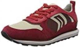 Geox U VOLTO D, Zapatillas para Hombre, Rojo (Red/Lt Beige C7887), 43 EU