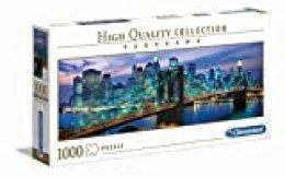 Clementoni- Puzzle 1000 Piezas Panorama Puente de Brooklyn - NY (39434.0)