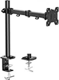 """Brazo de Monitor Individual HUANUO, Base de Monitor de Altura Ajustable para Pantallas LCD LED de 13""""- 32"""", 2 Opciones de Montaje, Dimensiones VESA 75/100, Capacidad de Peso de hasta 10 kg"""