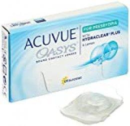 Acuvue Oasys Lentes de contacto multifocales quincenales, R 8.4, D 14.3, 5.25 dioptría, adición baja - 6 lentillas