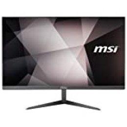 """MSI Pro 24X 7M - Ordenador de sobremesa Todo en uno de 23.5"""" FHD (Intel Core i3-7100U, 4 GB DDR4, 1 TB HDD y 16 GB SSD, Intel HD Graphics 610, sin Sistema operativo) Gris"""