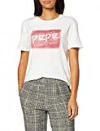 Pepe Jeans Morgane Camiseta, (Mousse 808), Large para Mujer