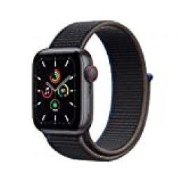Nuevo AppleWatch SE (GPS+Cellular, 40 mm) Caja de Aluminio en Gris Espacial - Correa Loop Deportiva en Color carbón