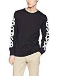 ASICS Big Logo Long Sleeve tee Camiseta de Manga Larga para Hombre