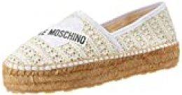 Love Moschino Ja1041, Alpargata para Mujer, Blanco (Bianco 100), 40 EU