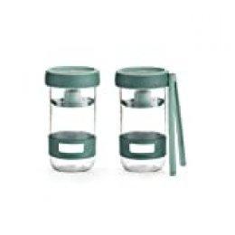 Lékué Kit de Utensilios para Preparar encurtidos caseros con Recipiente de Capacidad 700 ml