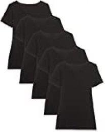 Maglev Essentials Damen T-Shirt Mit V-Ausschnitt, 5er-Pack Camiseta, Negro Schwarz), 40 (Talla del fabricante: Medium), 5