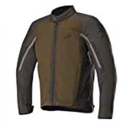 Alpinestars Chaqueta moto Spartan Jacket Teak Black, Marrón/Negro, L