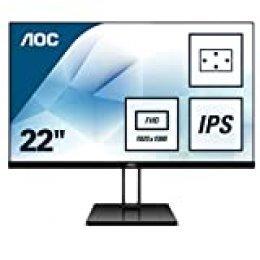 """AOC 22V2Q – Monitor de 21,5"""" Full HD (IPS, Resolución 1920x1080, FreeSync FlickerFree, Lowblue Light, HDMI, Displayport)"""
