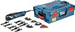 Bosch Professional GOP 40-30 - Multiherramienta, set de 16 accesorios, L-BOXX, 400 W