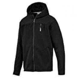 PUMA Nu-Tility Knit Jacket Chaqueta de Entrenamiento, Hombre, Black, L