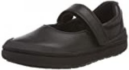 Clarks Rock Spark T, Bailarinas para Niñas, Negro (Black Leather-), 27.5 EU