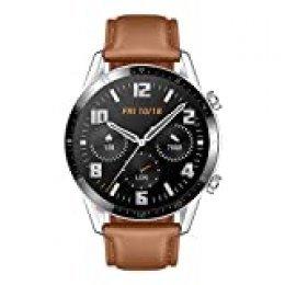 """Huawei Watch GT2 Classic - Smartwatch con Caja de 46 Mm (Hasta 2 Semanas de Batería, Pantalla Táctil Amoled de 1.39"""", GPS, 15 Modos Deportivos, Llamadas Bluetooth), marrón"""