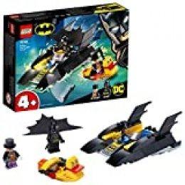 Super Heroes DC CBatman4+Caza del Pingüino en la BatlanchaBarco de Juguete para Niños, multicolor (Lego ES 76158)