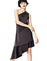 Marca Amazon - find. Vestido Midi con un Hombro al Aire Mujer