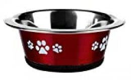 Classic Pet Products Classic Posh Paws Cat Dish, 240 ml, Rojo