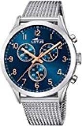 Lotus Reloj Cronógrafo para Hombre de Cuarzo con Correa en Acero Inoxidable 18637/3