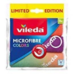 Vileda Microfibra bayetas (Colors Diseño II 3, plástico, Azul/Blanco, 30x 30cm, 3Unidades de Medida