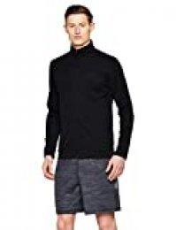 Under Armour Sportstyle Pique Track Jacket Chaqueta, Hombre, Negro (Black/Black 001), M