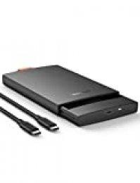 """UGREEN Carcasa Disco Duro 2,5"""" USB C con UASP 6Gbps, Caja Disco Duro Adaptador para HDD SSD SATA I/II/III de 7mm 9,5mm de Altura, 10TB MAX, para TV, Macbook, DELL XPS 15, con Cable USB C a USB C"""