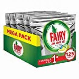FAIRY Platinum All in One - Cápsulas para lavavajillas, Pack de 125 cápsulas (5 x 25)
