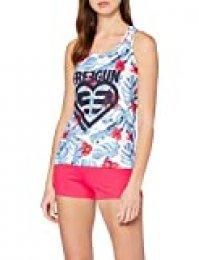 Freegun AF.fgalo.psh.MZ Pijama, Blanco (Blanc/Rose Blanc/Rose), Small para Mujer