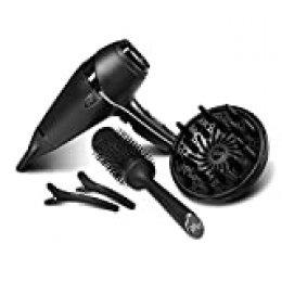 ghd Air Kit - Secador de pelo profesional con tecnología iónica, difusor, cepillo cerámico y 2 clips ghd, color negro