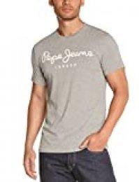 Pepe Jeans Original Stretch Camiseta, Gris (Grey Marl 933), Large para Hombre