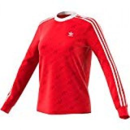 adidas 3 Str LS tee Long Sleeved T-Shirt, Mujer, Scarlet, 38