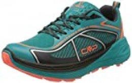 CMP – F.lli Campagnolo Nashira Maxi Wmn Shoe, Zapatillas de Trail Running para Mujer, Verde Curacao Red Fluo 32 LC, 37 EU