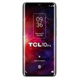 """TCL 10 Pro – Smartphone de 6.47"""" FHD+, con NXTVISION, Procesador Pantalla, Octacore, 6GB Ram, Memoria 128GB, Ampliable MicroSD, 4 Cámaras 64MP+16MP+5MP+2MP, Frontal 24MP, 4500 mAh de Batería, Negro"""