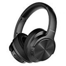Mixcder E9 Auriculares inalámbricos con Cancelación de Ruido Activa,Casco Bluetooth con Micrófono, Almohadillas de Proteína Cómodas, Controlador Doble de 40 mm, Bluetooth CSR, 30 Horas de Juego