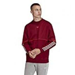 adidas Outline Redondo Sudadera, Hombre, Rojo (Collegiate Burgundy), S
