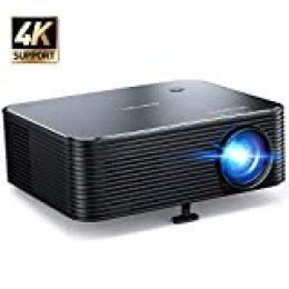 """Proyector, APEMAN Full HD 1920x1080P Nativo, Proyector 4K Soporte, 300"""" LED Pantalla Grande, Corrección Electrónica Trapezoidal, Compatible con HDMI/USB/Smartphone/TV Stick/PS4, para Cine en Casa"""