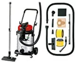 Einhell Expert 2342363 Aspirador seco/ liquido TE-VC 2230 SA de tipo industrial + Einhell - Filtro de larga duración duo para aspirador Einhell, color amarillo