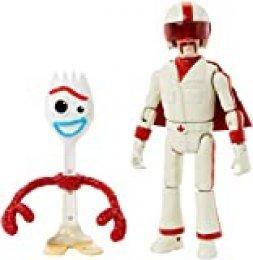 Disney Toy Story 4 Figura Forky con Duke Caboom, juguetes niños + 3 años (Mattel GGX29)