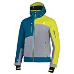 Dare 2b Travail Pro Waterproof & Breathable High Loft Insulated Ski & Snowboard Jacket with Detachable Hood and Snowskirt Chaquetas aislantes Impermeables, Hombre, Cloudy Grey/Ocean Depths, XXS