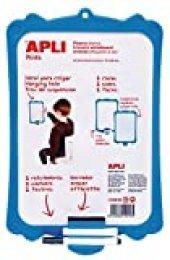 APLI Kids 12916 - Pizarra blanca rígida con borrador y rotuladores, 0,3 x 0,22 m