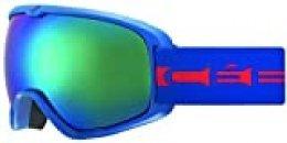 Cébé Artic, Mascara de esqui, Unisex Adulto, Multicolor (azul / rojo / mate), Medium